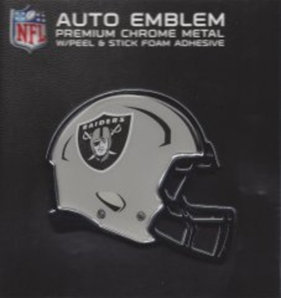 Oakland Raiders Color Metal Auto Emblem
