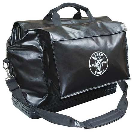 """KLEIN TOOLS Tool Bag,2 Pockets,24""""x10""""x20"""",Black 5182BLA"""
