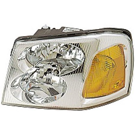 Go-Parts » 2002 - 2009 GMC Envoy Front Headlight Headlamp Assembly Front Housing / Lens / Cover - Left (Driver) 15866071 GM2502220 Replacement For GMC Envoy
