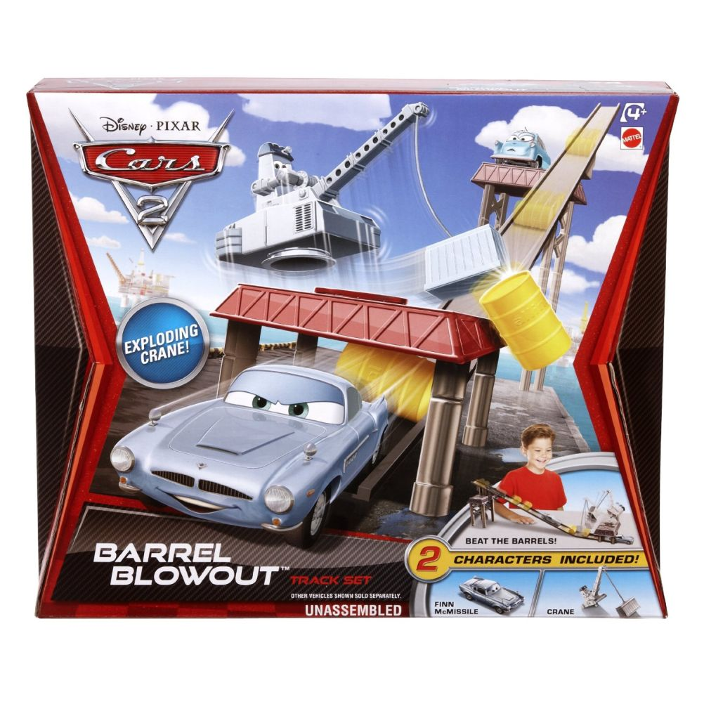 Disney Cars Playsets Barrel Blowout Diecast Car Track Set [No Professor Z]