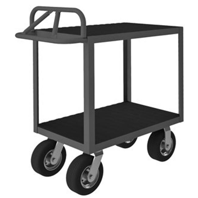 Durham RICE-2436-2-8SPN-95 40 in. Rolling Instrument Cart, Gray - 1200 lbs