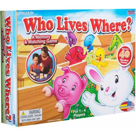 (Ideal® Who Lives Where? A Memory & Matching Game 40 pc Box)