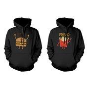 Burger and Fries BFF Hoodies Best Friend Matching Hooded Sweatshirts