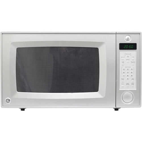 GE 2.1-cu ft Microwave, Silver and Gray, Refurbished