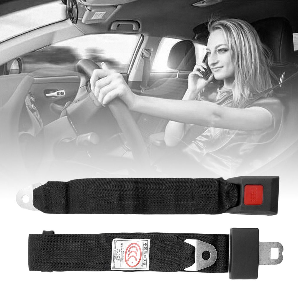 Hot Universal Black Car Seat Belt Lap Belt Two Point Adjustable Safety