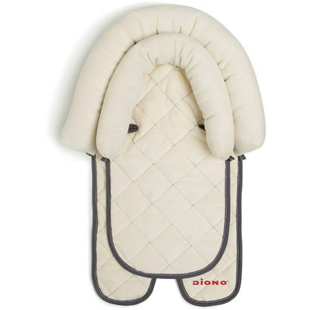 Diono 2-in-1 Infant Head Support Pillow for Car Seat or Stroller, Grows with Baby, (Seal Head)