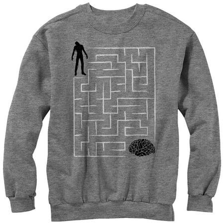 Halloween Brain Teasers (Men's Halloween Zombie Brain Teaser Maze)