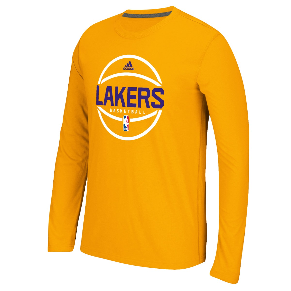 "Los Angeles Lakers Adidas NBA ""Ball In"" On-Court Climalite Performance L/S Shirt"