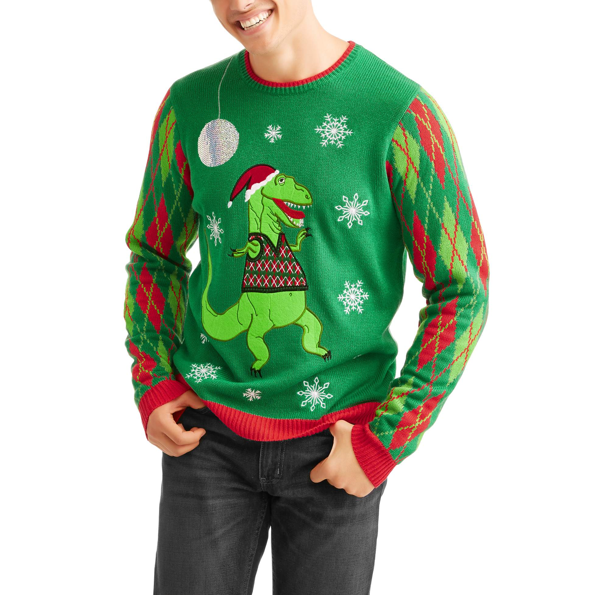 Holiday T Rex Sweater Vest Mens Ugly Christmas Sweater Walmartcom
