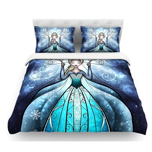 East Urban Home The Snow Queen by Mandie Manzano Frozen Featherweight Duvet Cover