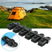 Domqga 6pcs High Strength Plastic Tent Clamp Clips Heavy Duty Locking Tarp Clips For Outdoor Camping, Tent Snap, Tent Tighten