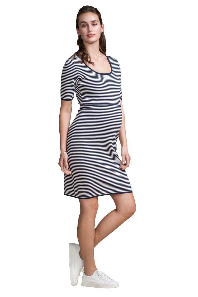 Boob Maternity Nursing Short Sleeve Knitted Dress