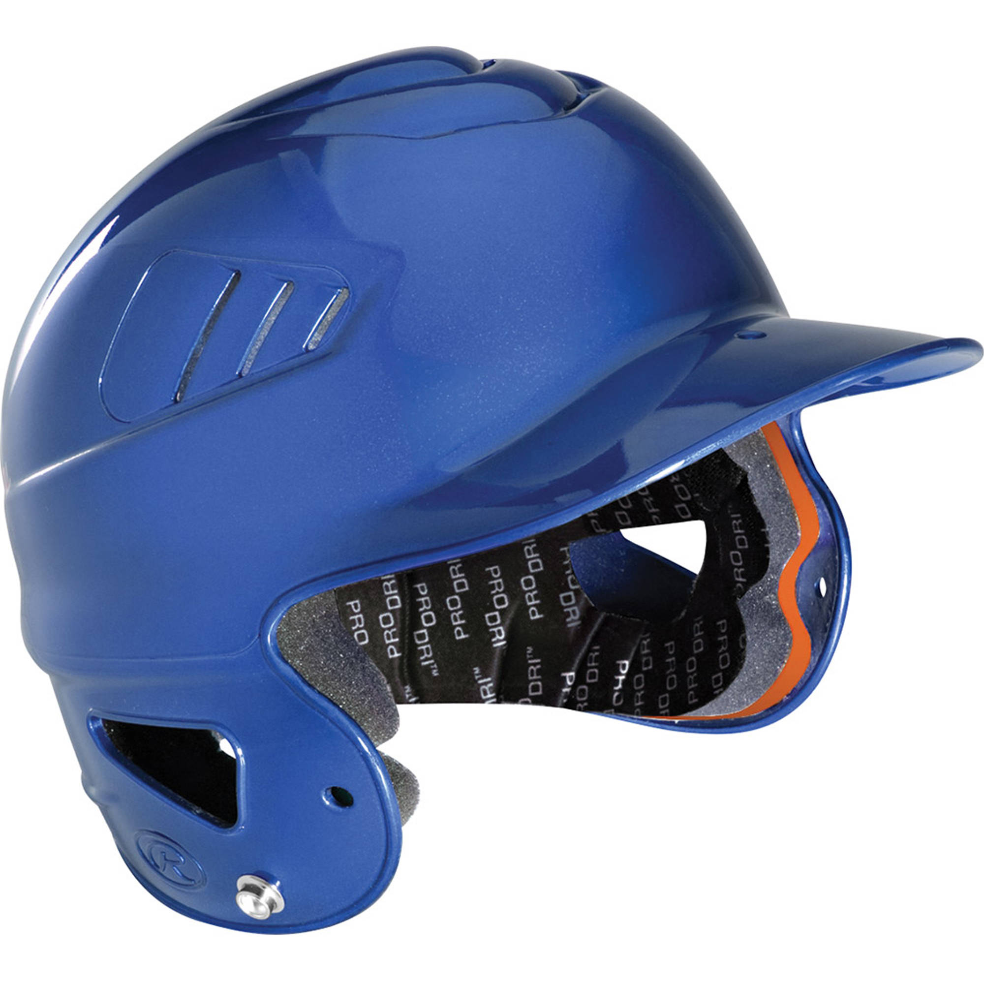 Rawlings Baseball Coolflo Molded Baseball Helmet, Royal Blue CFBHMN-R