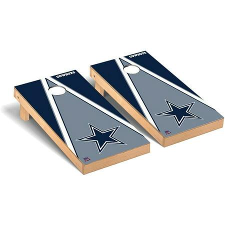 Dallas Cowboys 2' x 4' Triangle Cornhole Board Tailgate Toss Set Dallas Cowboys Tailgate Table