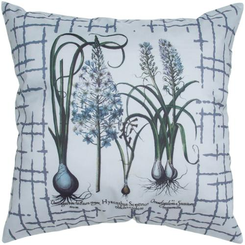 Room with a View Herb Garden Feather-filled 20-inch Throw Pillow