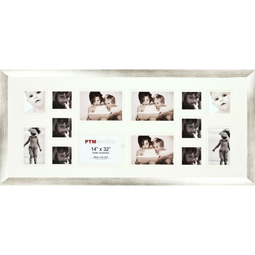 Silver 14-Opening Collage Frame, Set of 2