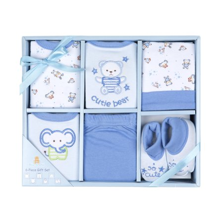 Big Oshi 6 Piece Layette Gift Set-Color:Blue ()