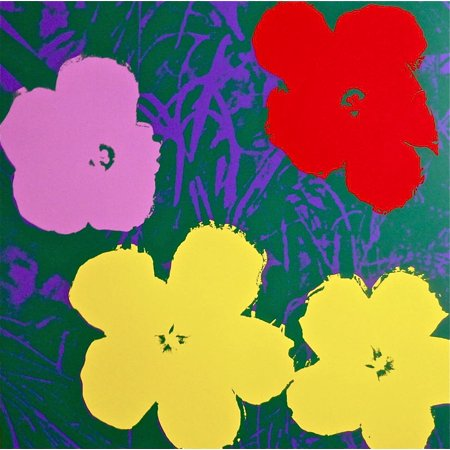 Flowers #65 by Andy Warhol Floral Art Print