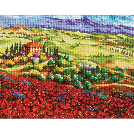 Poppies Thread - Tuscan Poppies Needlepoint Kit, 14