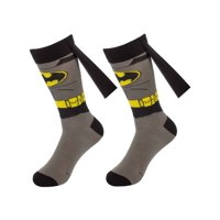 Bioworld (1 Pair) Superhero Socks For Men Crew, Colorful Comic-Book Characters, Fits Shoe Size 8-12, Cape Superhero Socks, Batman Socks, Wolverine Socks, Captain America Socks