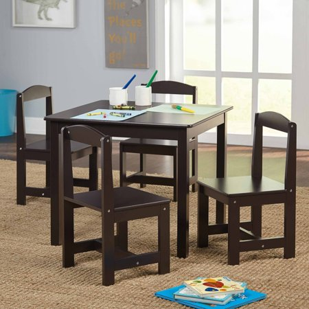 hayden kids 39 table and chairs set multiple colors 5 piece. Black Bedroom Furniture Sets. Home Design Ideas