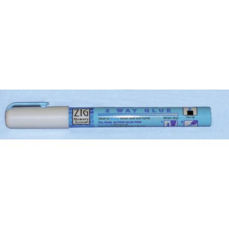 Zig 2 Way Glue Pen 1mm Fine Tip Acid & Xylene Free, By Crafting Pens