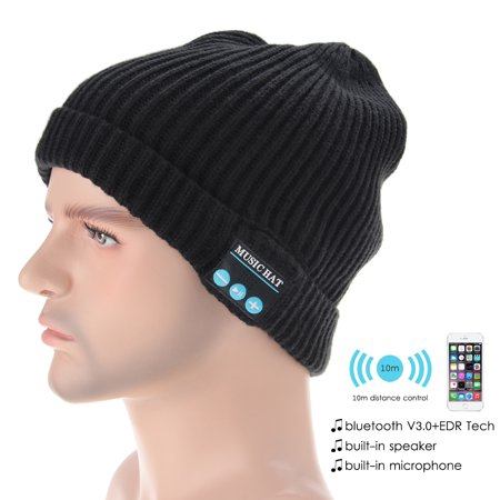 Upgraded V4.2 Bluetooth Beanie Hat Headphones Wireless Headset Winter Music Speaker Hat Knit Running Cap with Stereo Speakers & Mic Unique Christmas Tech Gifts for Women Mom Her Men Teens Boys