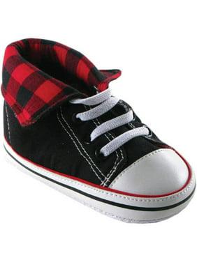 Newborn Baby Boys Fold-Down Hi-Top Sneakerss