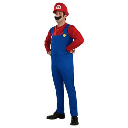 Mario Adult Costume - Large - Mario Costumes For Adults