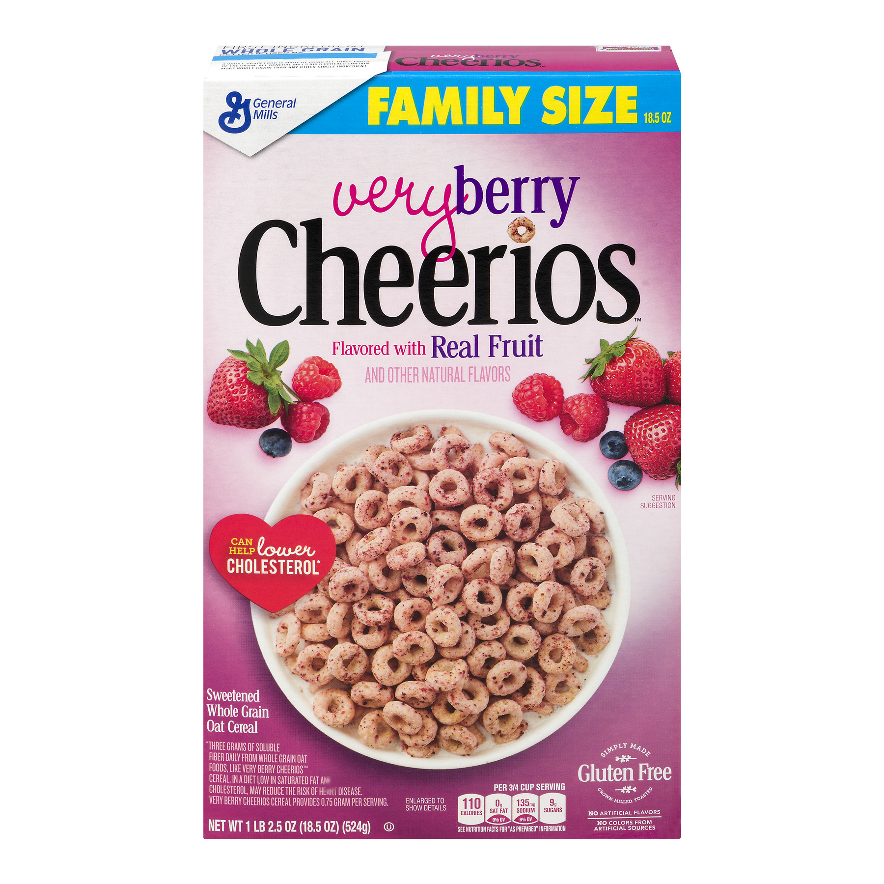 Very Berry Cheerios Cereal 18.5 oz Box