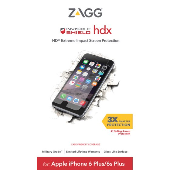 timeless design 98679 7bf4d ZAGG InvisibleShield HDX Screen Protector for Apple iPhone 8 Plus, iPhone  7/7S Plus, iPhone 6/6S Plus