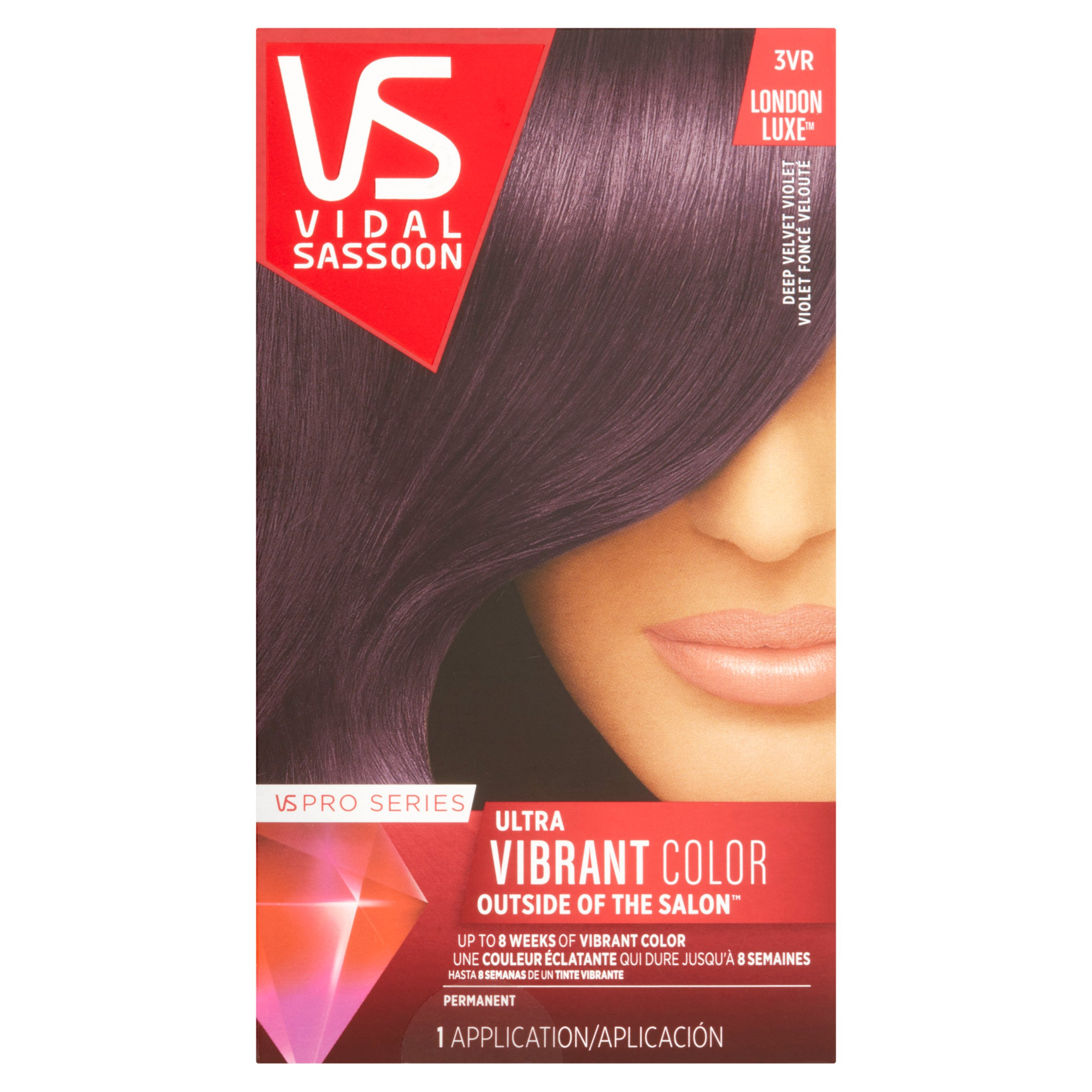 Vidal Sassoon Pro Series Ultra Vibrant Color 3VR Deep Velvet Violet Hair Color, 1 application