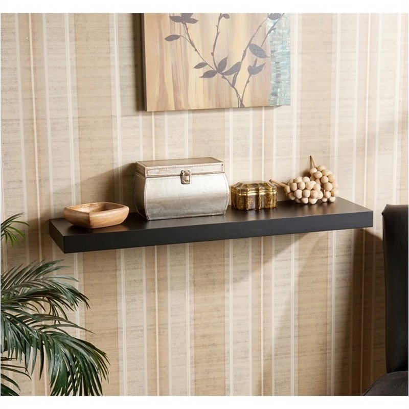 Bowery Hill Floating Shelf in Black