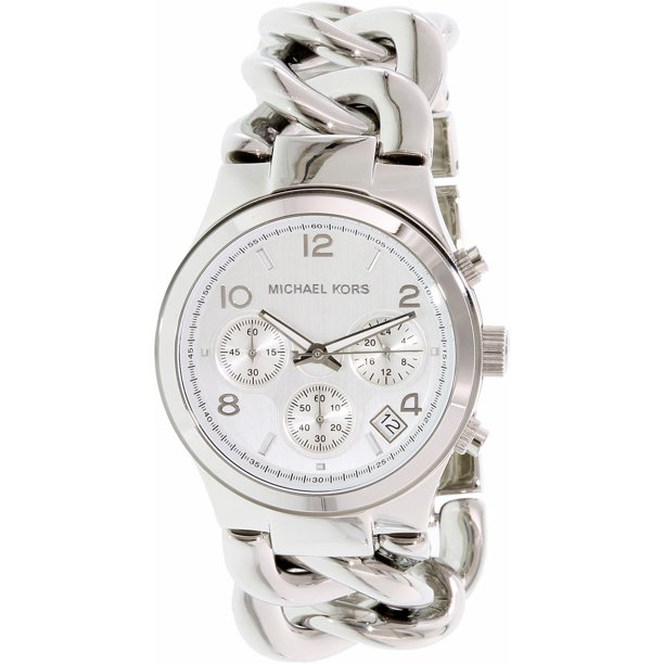 Michael Kors Women's Runway Twist MK3149 Silver Stainless-Steel Quartz Dress Watch