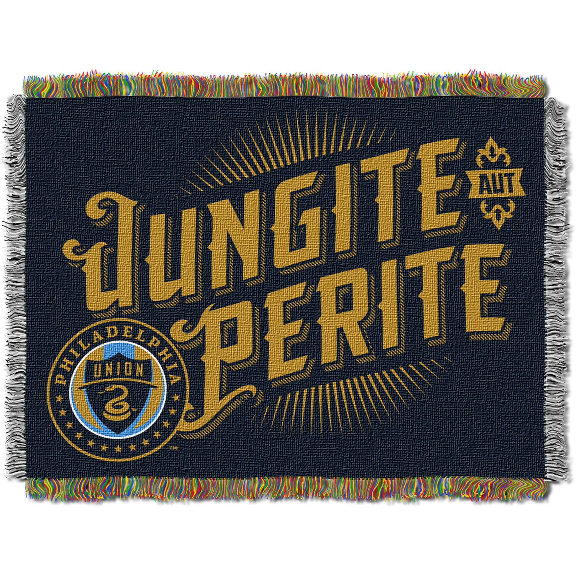 "MLS Philadelphia Union Handmade 48"" x 60"" Woven Tapestry Throw"