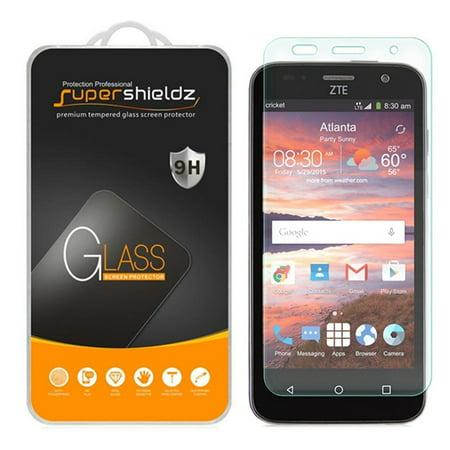 [2-Pack] Supershieldz for ZTE Overture 2 / ZTE Atrium / ZTE Fanfare / ZTE Scend Z791G Tempered Glass Screen Protector, Anti-Scratch, Anti-Fingerprint, Bubble Free (Ti Screens)