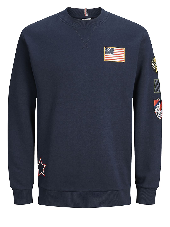 Badge Long-Sleeve Sweatshirt