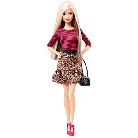 Barbie Fashionistas Doll, Leopard Print Skirt Zebra Print Baby Doll