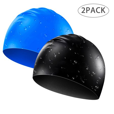 Silicone Long Hair Swim Cap - TSV Extra Large Swimming Caps for Women (Mens Swim Cap Large)
