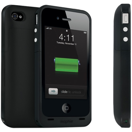 Mophie Juice Pack Extended Battery Case for Apple iPhone 4/4S (Black)