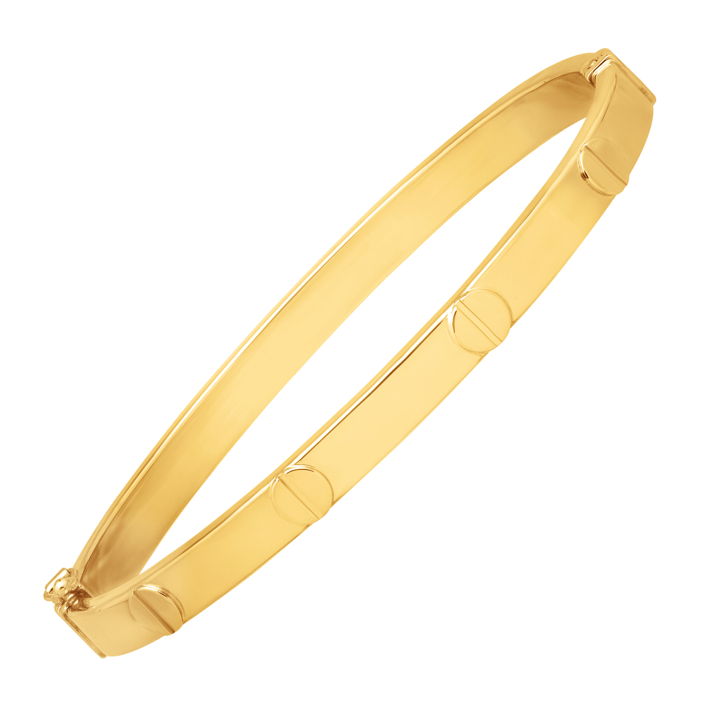 Just Gold Screw Motif Bangle Bracelet in 14kt Gold by Richline Group