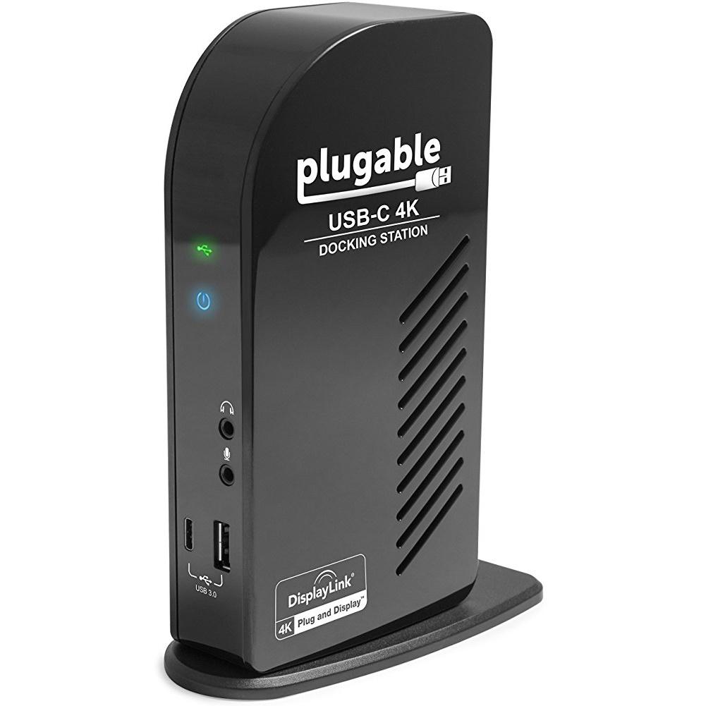 Plugable Technologies UD-ULTC4K Plugable Usb C Triple Display Dock 4k Docking