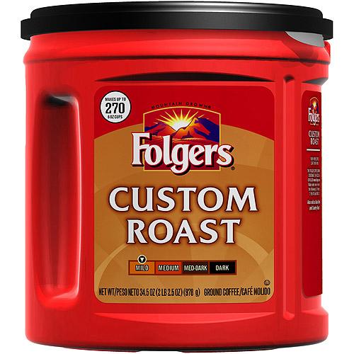 Folgers Custom Roast Ground Coffee, 34.5 oz