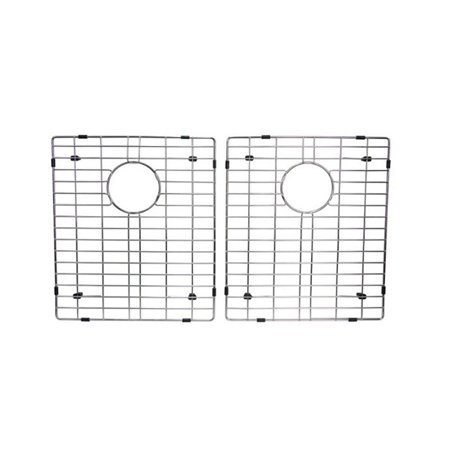 "Starstar 50/50 Double Bowl Kitchen Sink Bottom Two Grids, Stainless Steel, 17"" x 14"""