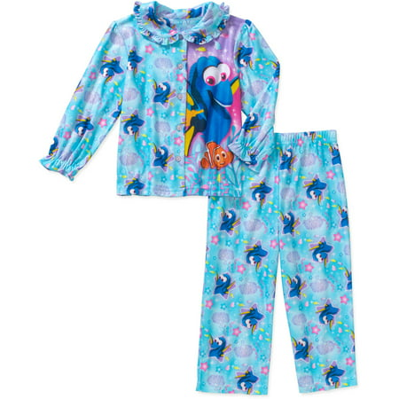 Finding Dory Toddler Girl Button Down Pajama Set - Walmart.com