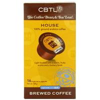 The Coffee Bean & Tea Leaf House Brew Light Roast Single Serve Coffee for CBTL Single Serve Systems, 1 Box of 16 Capsules