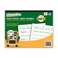 Channies Easy Peasy 100 Sight Words Workbook, Practice Printing, Tracing, and Handwriting, 80 Pages Front & Back, 40 Sheets, Grades Pre-K - 1st, Size 8.5 x 11