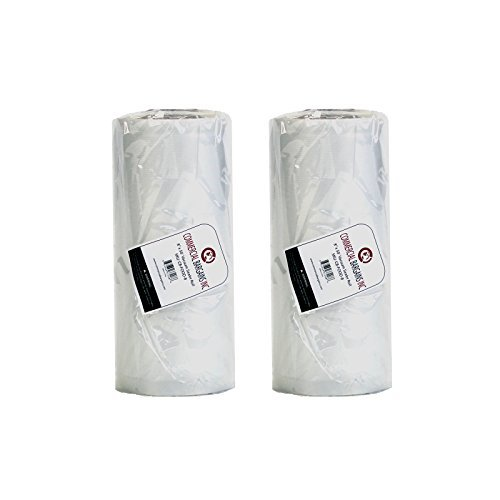 "2 Large 8"" x 50' Vacuum Saver Rolls Commercial Grade Food Sealer Bags by Commercial Bargains by Commercial Bargains Inc"