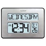 La Crosse Technology 513-1419BL-INT Backlight Atomic Full Calendar Clock with Extra-Large Digits