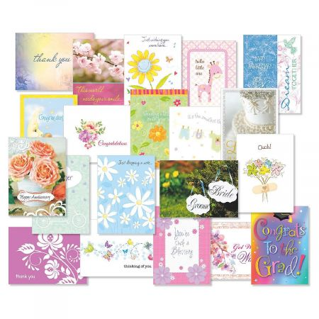 Mega All Occasion Greeting Card Value Pack - Set of 40 (20 designs)